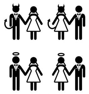 33355352-Couple-de-mari-s-diable-et-l-ange-mari-e-et-le-mari-ic-nes-Banque-d'images